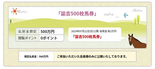 金馬券、諭吉500枚馬券払戻金想定500万円